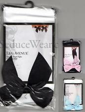 Sexy Opaque Thigh High Stockings with Satin Bows NEW