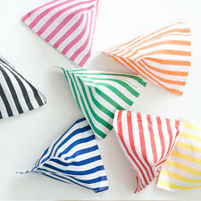 100 CANDY STRIPE PAPER SWEET GIFT PARTY BAGS 5x7 INCHES ~ CAKE BAG ~ ALL COLOURS