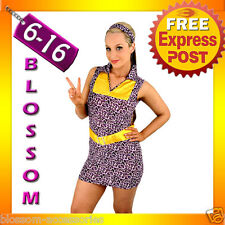 E51 60s 70s Retro Hippie Go Go Girl Disco Fancy Dress Halloween Mod Costume