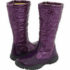 "NIB Girls NATURINO ""Rubye"" Purple Patent Quilted BOOTS ~ 24/8 ~ 25/9 or 26/10 ~"