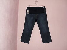 NWT~WOMANS LIZ LANGE MATERNITY, CROPPED BLUE JEANS. 5 SIZES.  MSRP: $28