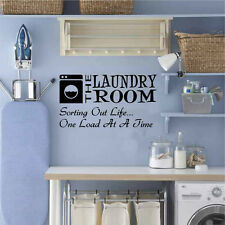 Laundry Room Sorting Out Life One Load At A Time Vinyl Decal Sticker FS #LR07