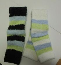 "NWT Capezio  HARMONIE 12"" GIRLS STRIPED LEGWARMERS  SOFT pamperwear Dance"