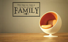Other Things May Change Us Family Home Decor Vinyl Wall Art Decal FA035
