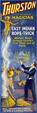 """M29 Huge 17""""x51"""" Vintage 1920's Magic Thurston Indian Rope Trick Magician Poster"""