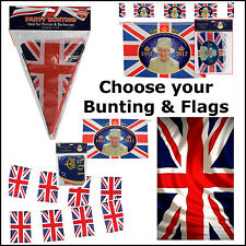 Union Jack Decorations Great Britian Olympic Queen Festival Flags & Bunting