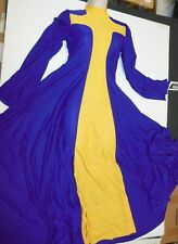 NWT PRAISE DRESS LITURGICAL DANCE GOLD Purple PRAISEWEAR child size Lge XLC