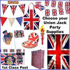 Union Jack Bunting Flags GB Olympics Royals British Street Party Flag Tableware