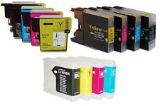 4 COMPATIBLE INK CARTRIDGES FOR BROTHER DPC & MFC PRINTERS. CHIPPED, READY TO GO