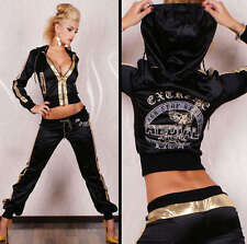 SEXY LADIES  SATIN TRACKSUIT BY REDIAL HOODED 2PC SET TRACKSUIT SIZE 8,10,12