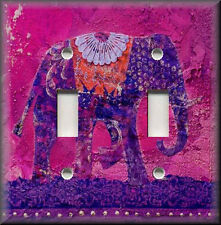 Light Switch Plate Cover - India Elephant - Purple
