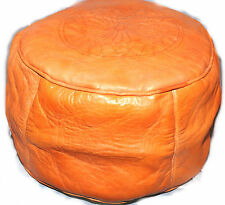 HANDMADE Leather Moroccan Pouffe ottoman stool