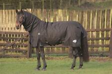 Masta Zing 300g Heavyweight Fixed Neck Combo Winter Turnout Rug Black 600 denier