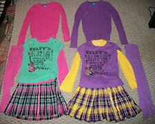 THE CHILDREN'S PLACE TCP 5 PC. GIRLS ROCK TOP PLAID SKIRT SWEATER OUTFIT SET 5 6