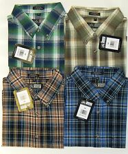 Mens Canyon Guide Cotton Plaid Short Sleeve Shirt  3X & 4X [#99-525/695]