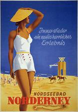 TW72 Vintage 1930 Norderney Germany German Travel Poster Re-Print A1/A2/A3