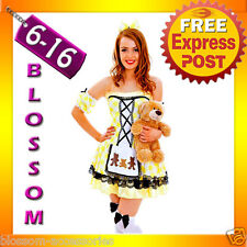G60 Ladies Goldilocks Fairy Tale Storybook Fancy Dress Halloween Costume Outfit