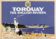 TX52 Vintage 1920's GWR Torquay English Riviera Railway Travel Poster Reprint A4