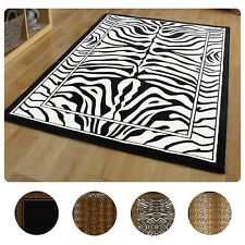 Modern Leopard Animal Print Area Rug 8x11 Zebra Safari Carpet -Actual 7'8 x10'7""