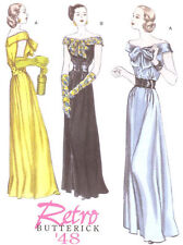 Retro 1948 Evening Gown PATTERN 5137 Elegant dress PROM 40s Hollywood Glamour