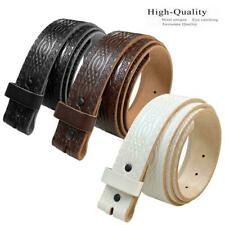 """85 Vintage Genuine Leather Belts -Black, Brown, and White 1.5"""" Wide"""