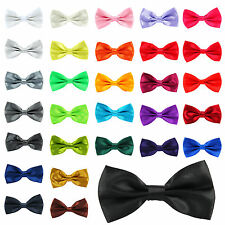 30 Colour Mens Pre Tied Wedding Party Fancy Plain Necktie Tie Bow Ties