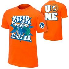 John Cena Orange Never Give Up Kids WWE T-shirt Boys