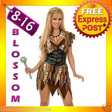 J7  Prehistoric Cave Girl Woman Jungle Jane Tarzan Cavewoman Fancy Dress Costume