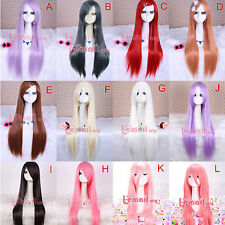 Synthetic 80cm Long Straight Hair Anime Cosplay Wigs+A Free Wig Cap