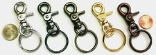"2"" MINI TRIGGER SNAP KEYRING/CHARM CLIP: GOLD-NICKEL-BLACK-COPPER-ANTIQUE BRASS"