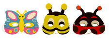 INSECT Bug EVA Foam Mask Childrens Fancy Dress Costume Party Loot Bag Filler LOT