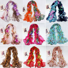 2013 New Women's Fashion Georgette Long Wrap Shawl Beach Silk Scarf