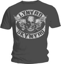 LYNYRD SKYNYRD Biker Patch T Shirt  OFFICIAL S M L XL XXL Grey New Free Bird