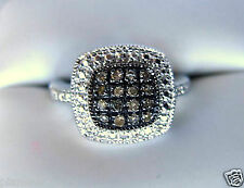 .20CT Champagne Brown Diamond Ring Sterling Silver .925 Pave Set High Polish