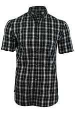 Mens French Connection FCUK Black Checked Gingham Shirt