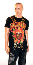 PACO CHICANO Christian Audigier Ed Hardy T-SHIRT Tee Shirt Sex Black Gold L 2XL