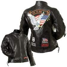 Ladies Leather Motorcycle Jacket, USA, REAL Leather NEW