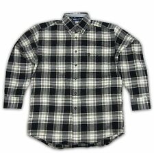 Mens Wrangler George Strait Long Sleeve Flannel Plaid Shirt MGS06XM Any Size