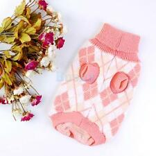 Pet Dog Puppy Pullover Turtleneck Sweater Knitwear Knitting Apparel Clothes Pink