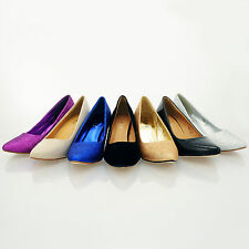 NEW STYLE WOMENS LADIES MID HEEL CASUAL SMART WORK PUMP COURT SHOES SIZE 3-8