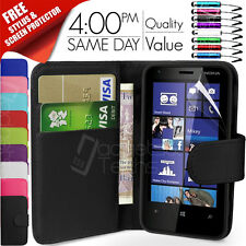 FLIP WALLET LEATHER CASE COVER FITS NOKIA LUMIA 620