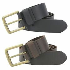 French Connection/ Fcuk Mens Leather Belt Brass Buckle