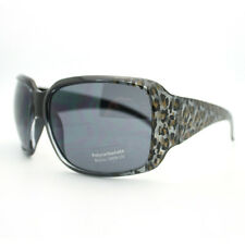 Womens Bold Animal Print Fashion Sunglasses Oversized Rectangular Thick Frame