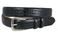 Mens Italian Designer Crocodile Calfskin Leather Dress Belt 1-1/8""