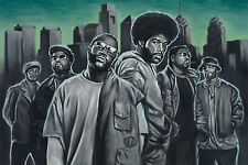 The Roots Oil Painting Artwork Stretched Canvas Hip Hop Giclee Print