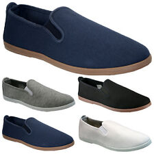 NEW MENS ESPADRILLES CANVAS PLIMSOLLS SLIP ON PUMPS PLIMSOLES TRAINERS SHOES