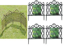 NEW 2-10 PLASTIC GARDEN BORDER FENCE EDGING LATTICE FENCING PATH ORNAMENTAL