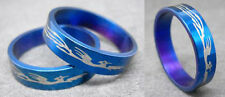 R044S charm men/women blue phoenix stainless steel ring you pick size New