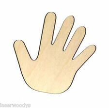 Child's Hand Unfinished Wood Shape Cut Out CH860 Laser Crafts Lindahl Woodcrafts