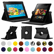 CASE FOR AMAZON KINDLE FIRE TABLETS - 360 SMART COVER PU LEATHER HD HDX STAND